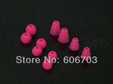 2 Sets deep pink Replacement tips and ear buds earbuds for ALL Beats Tour / sony / UE In-Ear headphones 4mm inner diameter(China)