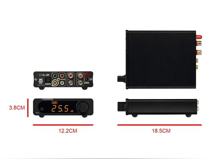 Topping MX3 Multifunction Desktop Digital Amplifier 40W+40W DAC HiFi Bluetooth Headphone NFC