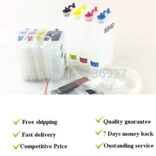 4 color empty CISS product suit for HP940 , suit For hp8000 for hp8500 series printer,  with permanent chips<br>