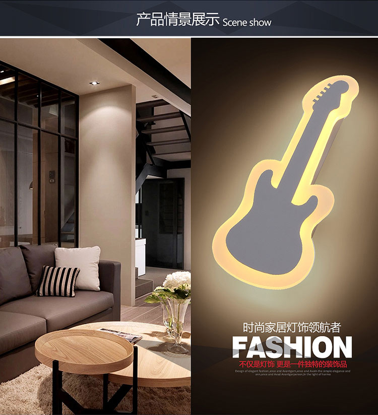 The guitar light Warm White Light LED Wall Lamp Bedroom Bedside Light Living Room Balcony Aisle Wall Lamp Corridor Wall Sconce<br><br>Aliexpress