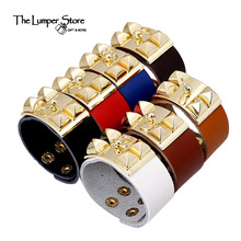 Cool bracelets fashion the fine jewelry punk bracelet rivet simple wild with different colors cheap promotion man and women