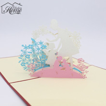 3D Paper Greeting Cards Sculpture Laser Cut Carving Mother's day Thanksgiving Paper PostCard Party Invitation Card Creative Gift
