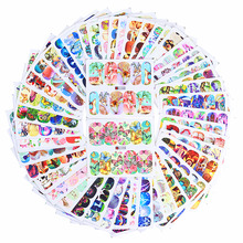 50 Sheets Animal Water Decal Butterfly Cat Dog Dream Catcher Colorful Nail Art Transfer Sticker(China)