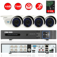 OWSOO 8CH AHD 720P CCTV DVR Kit P2P AHD DVR Video Recorder +1TB HDD 4PCS Waterproof 720P CCTV Camera Outdoor Security System Kit