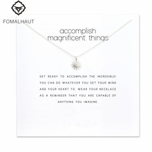 Accomplish magnificent things starburst Pendant necklace Clavicle Chains Statement Necklace Women FOMALHAUT Jewelry F-6(China)