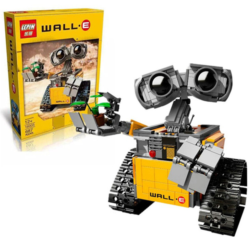LEPIN 16003 Ideas Series The WALL E Model Building Blocks Classic Action Figures Toys Compatible With 21303 WALL-E Bricks<br><br>Aliexpress