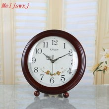 Meijswxj Saat Reloj Wood Desk Clock Relogio Clocky Mute Bracket Clocks Bedside Ornaments Masa saati Relogio de mesa Home Decor