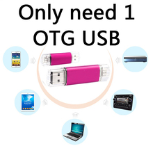 High Quality Real Memory OTG Usb Flash Drive 64GB 32GB 16GB Pen Drive 128GB Usb Stick Key Mobile OTG For Android Smartphone