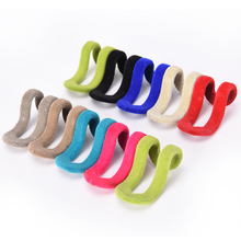 10 pcs/lot Cloth Hanger Hook Random Color Mini Flocking Clothes Hanger Easy Hook Closet Organizer Clothes Hanger