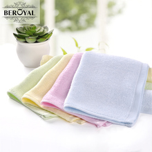 Beroyal Brand Kids Hand Towel -4PC/Lot 25*25cm Bamboo Towel Plain Dyed Face Towel Square Soft Baby Bibs Towel(China)