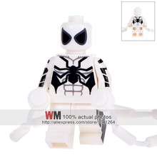 WM332 White Spiderman With Climbing Rope Vine String Single Sale Building Blocks Children Gifts Toys Drop Shipping(China)