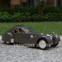 1:28 DIECAST MODEL TOYS VINTAGE CARS PULL BACK BUGATTI TYPE 57 SOUND & LIGHT