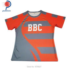 High Quality Custom Sublimated Design Men Rugby Jersey Accept Small Quantity Order(China)