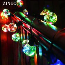 ZINUO led christmas fairy lights rgb with plug 25leds G40 globe connectable festival party ball string lamps wedding holiday