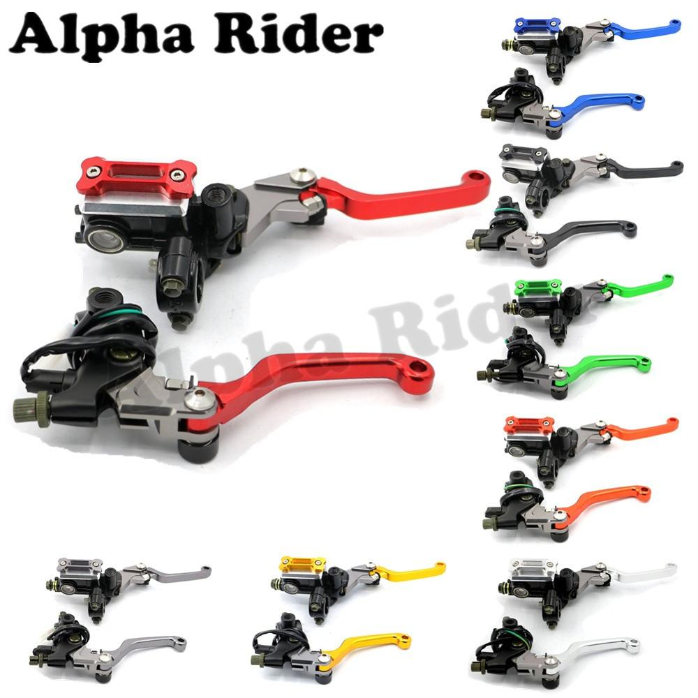 CNC Brake Master Cylinder Reservoir Clutch Lever Hydraulic for Honda CRF 80/85/125/230/250/450 Pit Dirt Bike 7/8 22MM Handlebar<br>