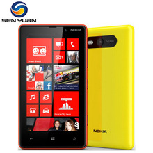 Original Nokia Lumia 820 phone GSM 3G 4G 4.3'' Touch screen 8GB ROM 1GB RAM Wifi GPS 8MP Camera Unlocked Windows Cell Phone(China)