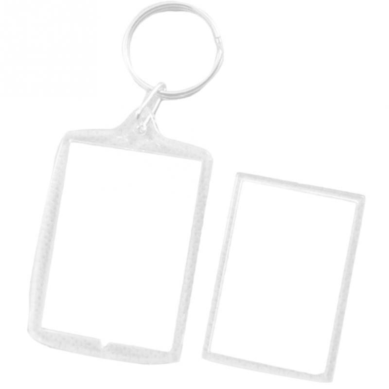 Rechteck Runde und Rechteck 50pcs Fotorahmen Schlüsselanhänger Set Runde