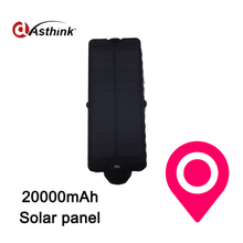Magnet Solar Car Gps Tracker 20000mAh Lithium battey Anti Theft Drop Alarm Tracker Car Gps Position Free Platform(China)