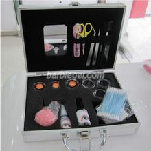 New Brand Professional Fake False Eyelash Eye Lashes Extension Kit Set Make Up Cosmetic Tool with Silver Case