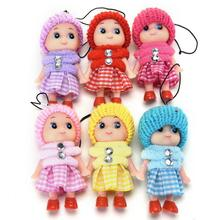 1Pc Mini Doll For Girls Colors Random Babies Children Kids Toys Soft Interactive Baby Dolls Toy Free Shipping(China)