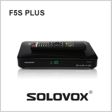 2PCS free shipping Original SOLOVOX F5S Plus 1080p Full HD Satellite Receiver DVB Support USB Youpron CCCAM/MGCAM/NEWCAM Web TV(China)