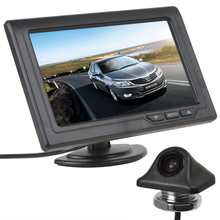 "4.3"" Color TFT LCD 480 x 272 Screen Display Headrest Car Monitor + E335 170 Degree Night Vision Car Rear View Camera"