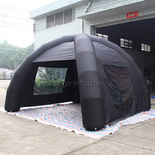 black inflatable tent spider tent with 2 Transparent windows toy tent