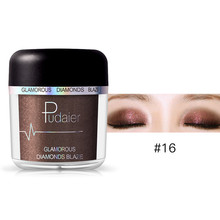 Pro Glitter Mineral Loose Eyeshadow Powder Cosmetic Brightener Waterproof Shimmer Long Lasting Pigments Eye Shadow Make Up(China)
