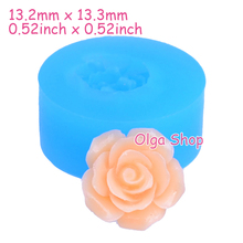 HYL006 13.3mm Flower / Rose Silicone Mold - Fondant, Cake Decoration, Miniature Food, Gum Paste, Candy, Resin Jewelry, Chocolate(China)