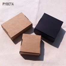 50pcs-  blank kraft paper aircraft box black paper DIY gift boxes for handmade soap candies jewelry accessories