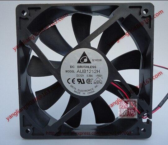 Free Shipping For DELTA AUB1212H, -PE01 DC 12V 0.39A, 120x120x25mm 2-wire Server Square Cooling Fan<br>