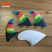 Colorful ladies surfboard fin FCS G5 surfing fin strongest carbon fin FCS M fin