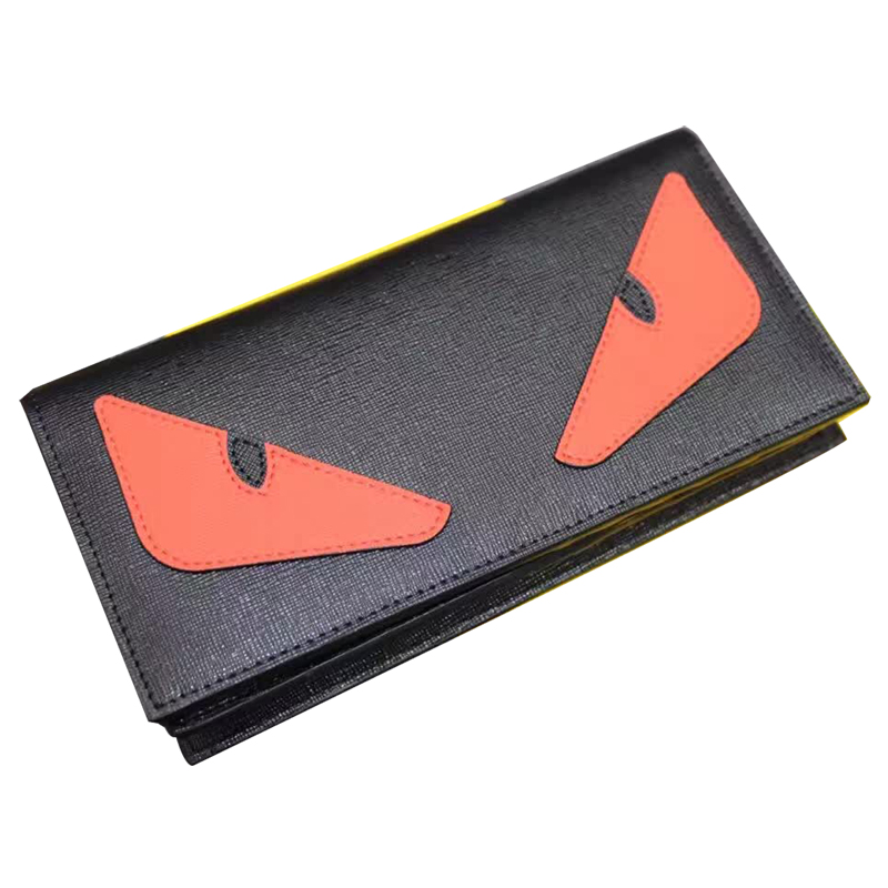 2016 Rushed Genuine Leather Short Unisex Little Monster Wallets Eyes Daily Clutches Bags For High Quality 100% Real Leather<br><br>Aliexpress
