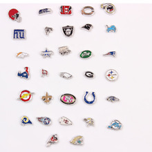 32pcs American Football Floating Locket Charms For Glass Memory Floating Lockets