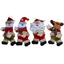 12pcs/lot Santa Claus Snowman Christmas Decorations Sale Xmas Tree Hanging Ornaments Gifts Craft Supplies for Home Decor SD212