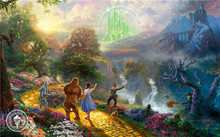Thomas Kinkade Oil Paintings HE WONDERFUL WIZARD OF OZ Art Decor Painting Print Giclee Art Print On Canvas(China)