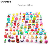 50/100pcs Shops Season Fruit Merchants Family Shopping Mixed Toy Doll For Kids Doll Play House Cartoon Toys Children's Day Gift(China)