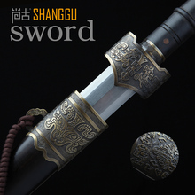 Ebony bronze Yue Damascus steel sword King's sword High-end home decorations Art collection(China)