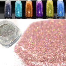 1g Gorgeous Colorful Charm Laser Nail Glitter Powder Holographic DIY Micro Powder Dust Nail Art Decorations Pigment TRJX01-(China)