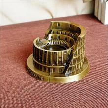 World famous landmark building metal model crafts home furnishings Roman Colosseum model decoration creative gift(China)