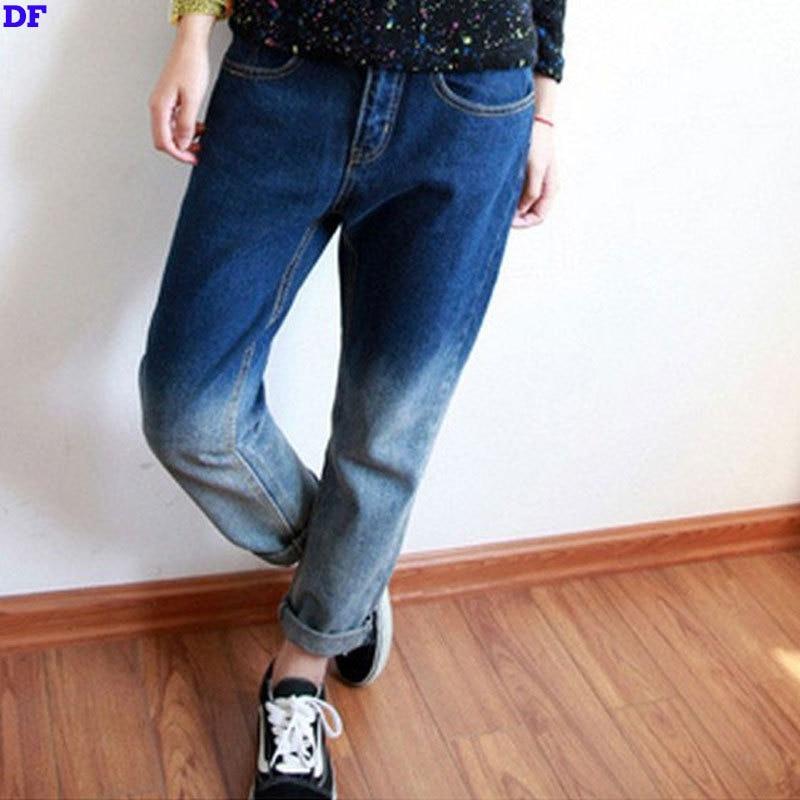 Denim Jeans For Women Plus Size XL Boyfriend Jeans For Women 2017 Hot Sale Blue Jeans Woman Loose Gradient Vintage Women JeansОдежда и ак�е��уары<br><br><br>Aliexpress