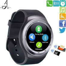 AhSSuf Wrist Watch Cell Phone Calling SIM TF Card Life Waterproof Bluetooth Facebook smart watch electronic device Anti-lost