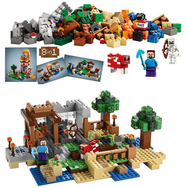 Pogo Lepin Minecrafte My World Zombies Building Blocks Bricks Toys Compatible Legoe<br>