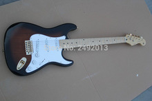 Free shipping Top Quality stratocaster custom body 6 string made in usa guitar Gold Hardware Electric Guitar    @2