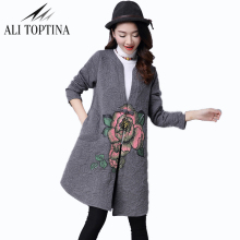 2017 Autumn And Winter New Pattern Clip Printing Restore Ancient Ways  Cardigan Windbreaker Loose Coat Plus Trench Fy02