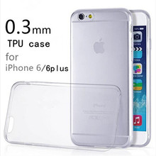 Free shipping 2016 new 0.3mm Crystal Clear Soft Silicone Transparent TPU Case cover for iPhone 4 4S 5 5S 5C 6 6S 6 Plus 7 7 Plus