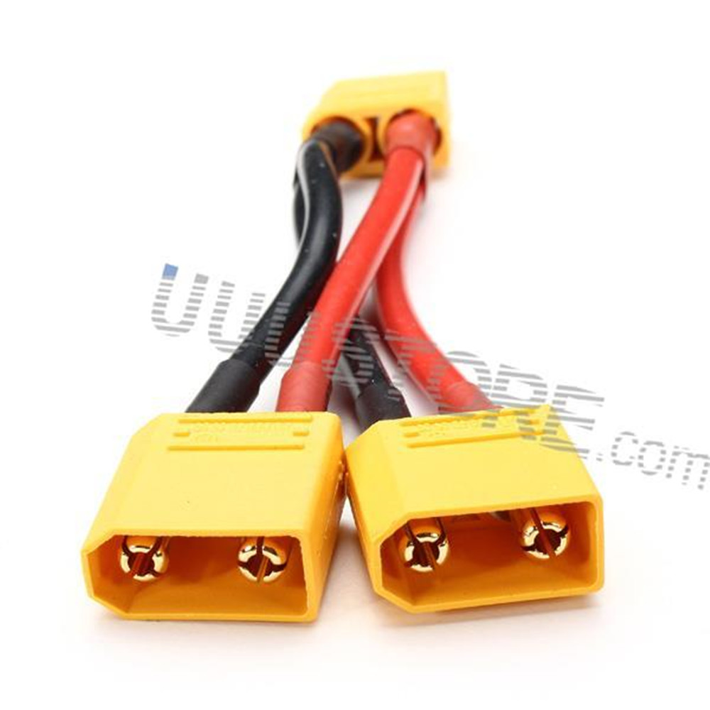AMASS XT90 Plug 14AWG Male Female Parallel Connection Cable For FPV Cable connection<br><br>Aliexpress