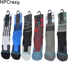 Buy Fussion Basketball Socks Men Quick Drying Nylon Compression Socks Cycling Terry Running Socks Sport Sock for $4.05 in AliExpress store
