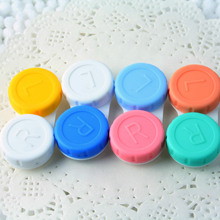 4 pcs lot Glasses Cosmetic Contact Lenses Box Contact Lens Case for Eyes travel Kit Holder Container Wholesale(China)
