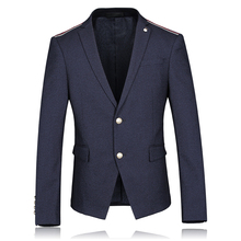 Slim Fit Blue Blazers Men Casual Jacket Single Party Suit Jacket 2017 Coat Male Suite Stage Clothing for Singers